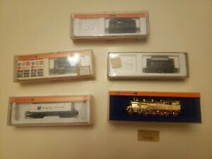 5 Pc Arnold Train Lot (VERGOLDET LOCOMOTIVE, 2 Rapidos 2 w/advertising)