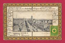 Ak Ungarn, Esperanto, Debrecen, Debreczen, 1908, Vignette,nach Spanien Barcelona