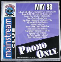 """PROMO ONLY """"MAINSTREAM CLUB MAY 1998"""" DJ PROMO CD COMPILATION 10 TRACKS *NEW*"""