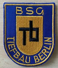 Alter Original Aufnäher BSG Tiefbau Berlin (DDR Liga, Bezirksliga)