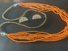 Earring Set Beaded Necklace