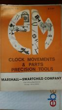 Clock Movements & Parts Precision Tools : PM Clock & Tool Catalog No 176 Paperba