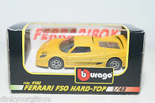 BBURAGO BURAGO 4182 FERRARI F50 F 50 HARD-TOP HARD TOP YELLOW MINT BOXED