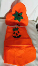 Cute Felt Orange PUMPKIN DOG COSTUME Halloween Size Small