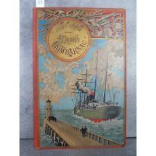 Hetzel Jules Verne Claudius Bombarnac Steamer Médaillon doré Voyages extraordina
