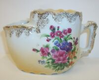 Vintage Shaving Scuttle Mug Cup - Victorian Summer Bouquet