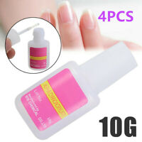 4pcs Colle Glue à Strass Faux Ongle Capsule Cristal Décor Fimo Nail Art Tips 10g