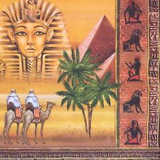 2 single paper napkins decoupage or collection City Egypt Pyramids Pharaon Camel