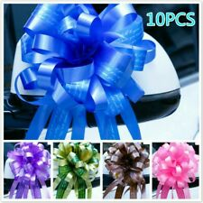 10 X Dichromatic Pull Bows Wedding Car Decor Present Packing Pull Flower Ribbon