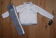 Nike Girl Jogging Set ~ Tracksuit ~ White, Gray & Aqua ~