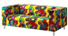 Loveseat Cover, Mollaryd Multicolor , (Cover Only), Fits Ikea Klippan Model Sofa