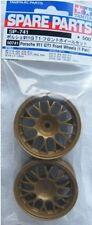 Tamiya 50741 1/10 RC Car 26mm Gold Mesh Wheels (2pcs,Offset +2) Set Spare Parts