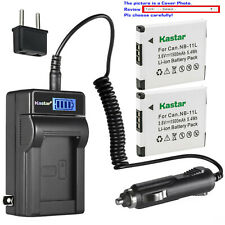 Kastar Battery LCD Travel Charger for Canon NB-11L Canon ELPH 360 HS IXUS 125 HS