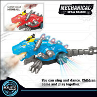 Electric Spray Dinosaur Dragon Electric Robot Pet With Music Light Kids Toy Gift