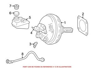 For Mercedes Genuine Brake Master Cylinder Reservoir 1664300102