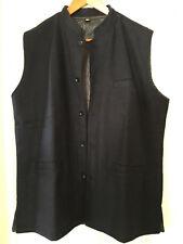 India Neru Style - Mens Wool Vest Fine Quality Lined - NAVY - SZ 2X / XXL