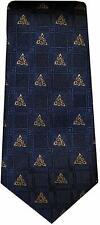 Patrick Francis irischen Trinity Knoten Design 100% Seidenkrawatte-Marineblau