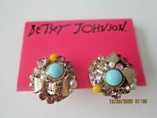 Earrings Cluster Charms Authentic Betsey Johnson
