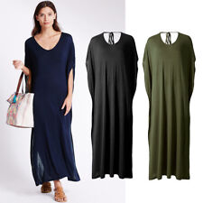 Ex M&S NEW Navy Blue Khaki Green Black Summer Beach Cover Up Maxi Dress S - XL