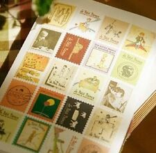 80pcs Le Petit Prince PVC Set of 4 Small Stamp Style Stickers Scrapbook #448