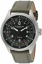 Stuhrling Original Mens 789 02 Aviator Stainless Steel Watch
