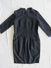 Pendleton 100% Wool Dress- 3/4 Sleeve-Pockets- Lined -Black- Size 10 - NWT $199