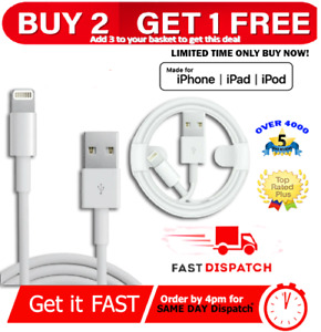 Genuine iPhone Charger For Apple Long Cable USB Lead 5 6 7 8 X XS XR 11 12 Max