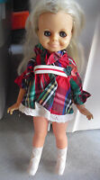 "Vintage 1971 Ideal Blonde Velvet Doll in Outfit 16"" Tall"