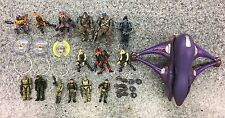 JOYRIDE BUNGIE HALO 2 USED MINIATURE ACTION FIGURE SET LOT MASTER CHIEF  S-79