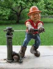 Plumber Comical Figurine Resin W.Stratford Grumpy Jon Series 6 in. City  Worker