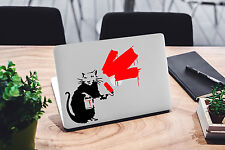 Banksy adhesivo para MacBook Pro DE VINILO Funda Air Divertido 13 15 11 Rata