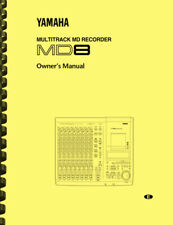 Yamaha MD8 Multitrack MD Recorder OWNER'S MANUAL