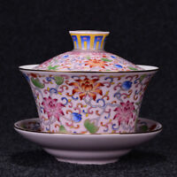gaiwan porcelain bigger tureen with lid covered bowl tea cup saucer 340ml China