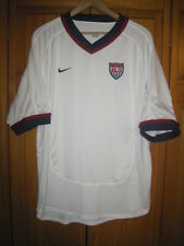 Vintage Team USA Nike Dri-Fit soccer jersey men's L white Olympics World Cup