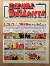 HERGE - TINTIN - COEURS VAILLANTS numéro 45 ( 10 novembre 1940)