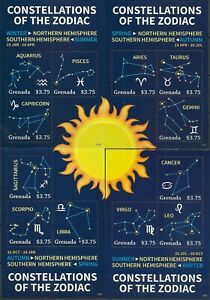 """GRENADA - 2013 MNH """"Constellations Of The ZODIAC"""" Complete Set Of 5 S/S !!!"""