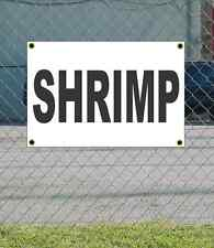 2x3 SHRIMP Black & White Banner Sign NEW Discount Size & Price FREE SHIP