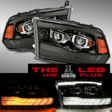 09-18 Dodge Ram 1500/2500/3500 G3 Model dual Projector Headlights Jet Black