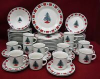 FOLKCRAFT china HOLIDAY HOMECOMING pattern 60-piece SET SERVICE for 12