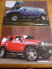 HUMMER H3 AND H2 SALES 'BROCHURE'/SHEET FOR 2006 - 2 OF