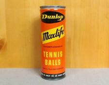 Vintage Dunlop Maxlife Tennis Ball Can 3 Balls Advertising made in England Nice!