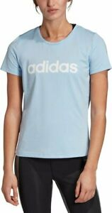Adidas Training Tee Womens Small or Medium Glow Blue Breathable Mesh Gym Shirt