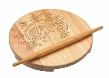 Kitchen craft en bois indian chapati rolling pin & bois rond pâtisserie board set