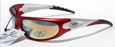400UV Men RED SILVER SMOKE X-loop Sunglasses BASEBALL cycling jogging sport
