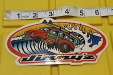 JIMMYZ Woody Wagon Surfboard Clothing 80's Vintage Surfing JIMMY'Z Decal STICKER