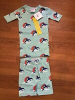Hanna Andersson Pink Shooting Star Rainbow Short Johns Pj/'s Pajamas 100 4 NWT
