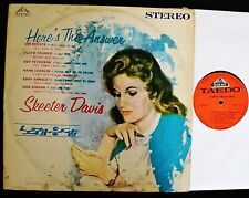 KOREA LP Skeeter Davis Taedo 2037 Here's The Answer