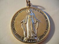 """Miraculous Medal Giant Round Medal 1 3/4""""    FREE SHIPPING! New!  Made in Italy!"""