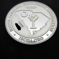 South Carolina Geocoin 2006 One Troy Oz .999 Silver Geocaching Coin NONTRACKABLE