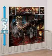 HAUNTED HOUSE Scene Setter Halloween party wall decoration kit ghosts mansion